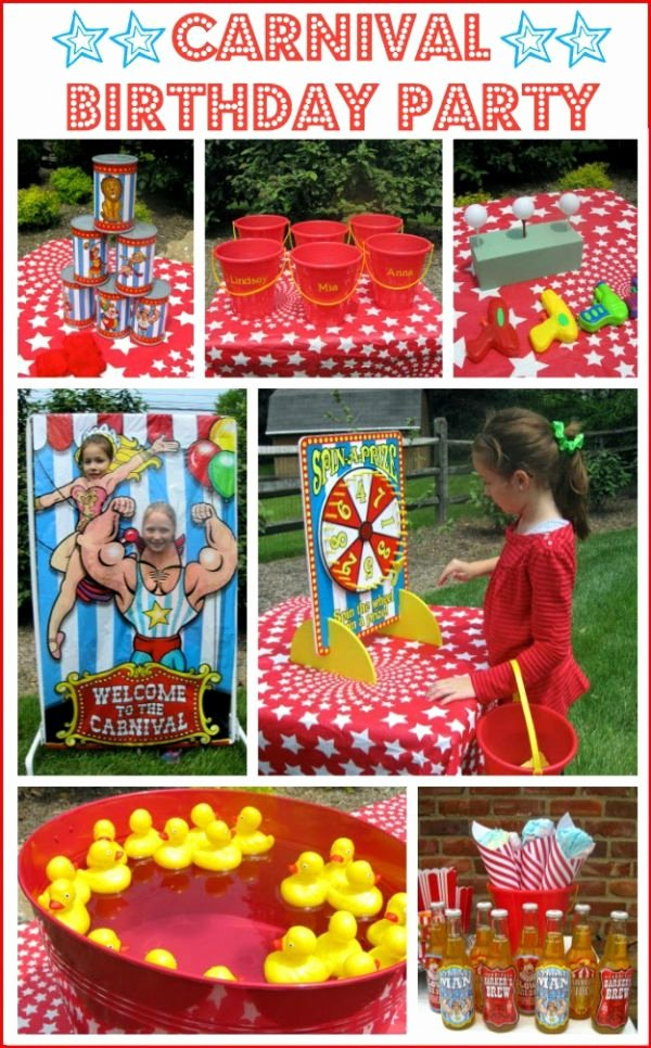 Carnival Birthday Party Collage