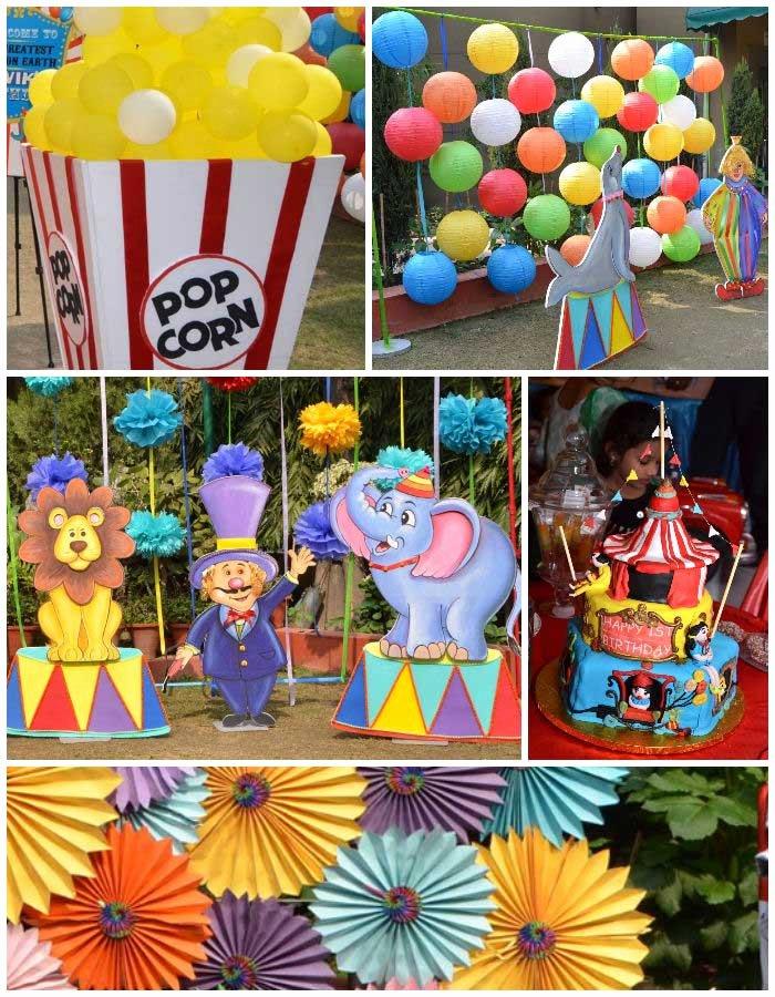 Carnival Birthday Decoration Ideas Luxury Kara S Party Ideas First Birthday Carnival Party Planning