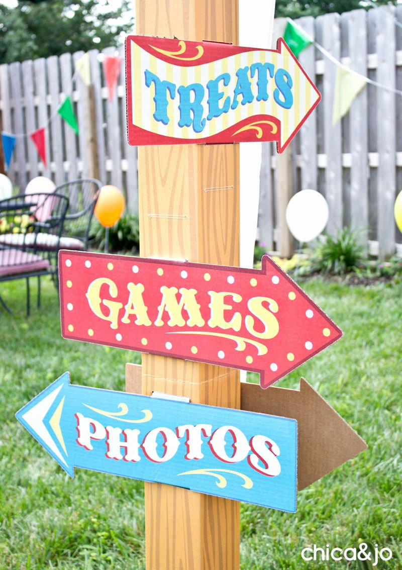 Carnival Birthday Decoration Ideas New Carnival Birthday Party Ideas