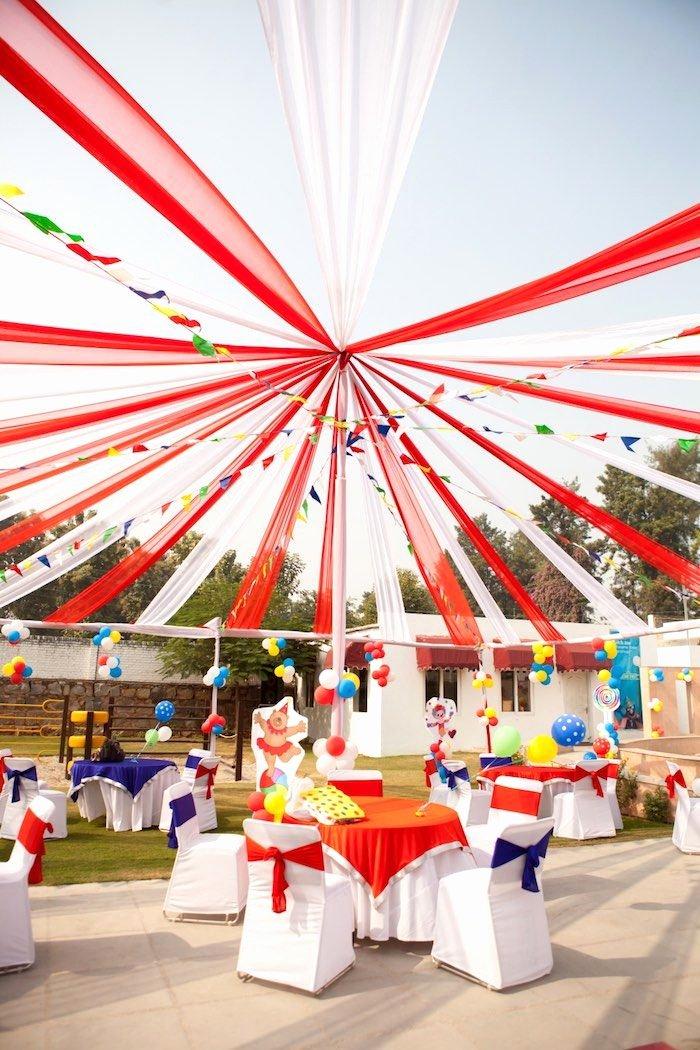 Carnival Birthday Decoration Ideas Unique Circus Carnival Party