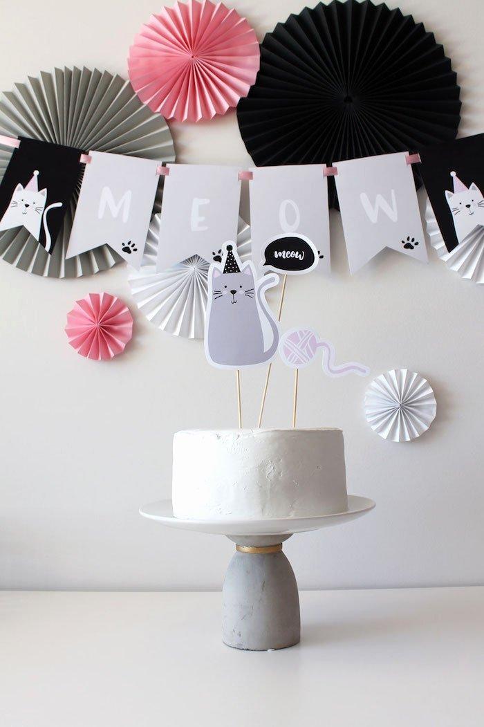 Cat Birthday Decoration Ideas Beautiful Kara S Party Ideas Cat Birthday Party