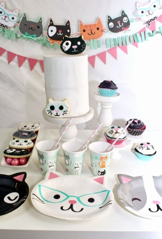 Cat Birthday Decoration Ideas Beautiful Throw the Purr Fect Cat themed Birthday Party