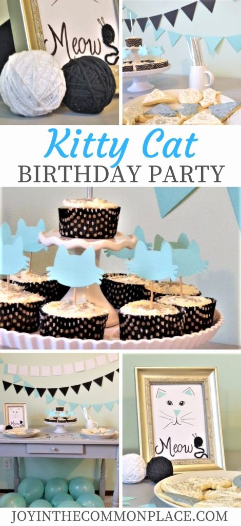 Cat Birthday Decoration Ideas Elegant Throw A Kitty Cat Birthday Party for Kids