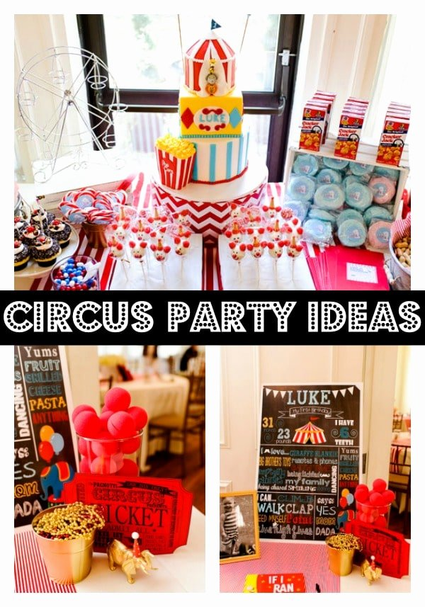 Circus Birthday Decoration Ideas Awesome Circus themed First Birthday Party Pretty My Party