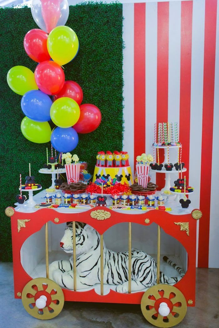 Circus Birthday Decoration Ideas Fresh Mickey Mouse Circus Birthday Party