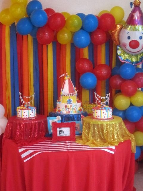 Circus Birthday Decoration Ideas Inspirational Carnival Circus Birthday Party Ideas