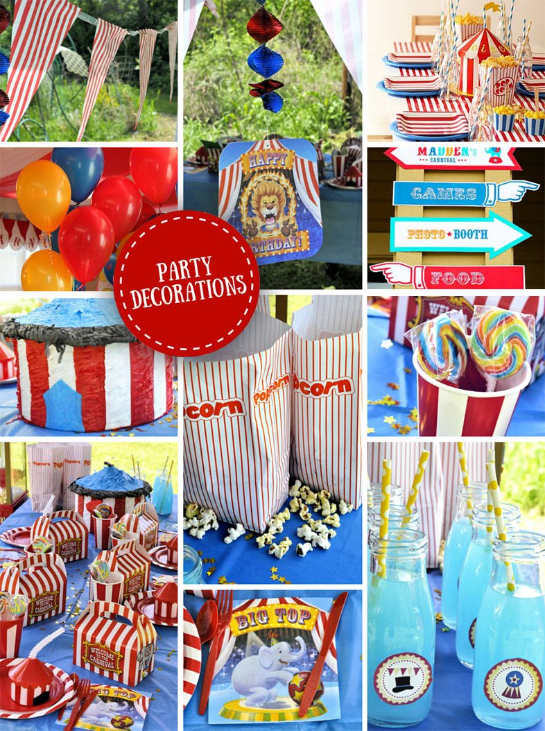 Circus Birthday Decoration Ideas Lovely Carnival Party Ideas
