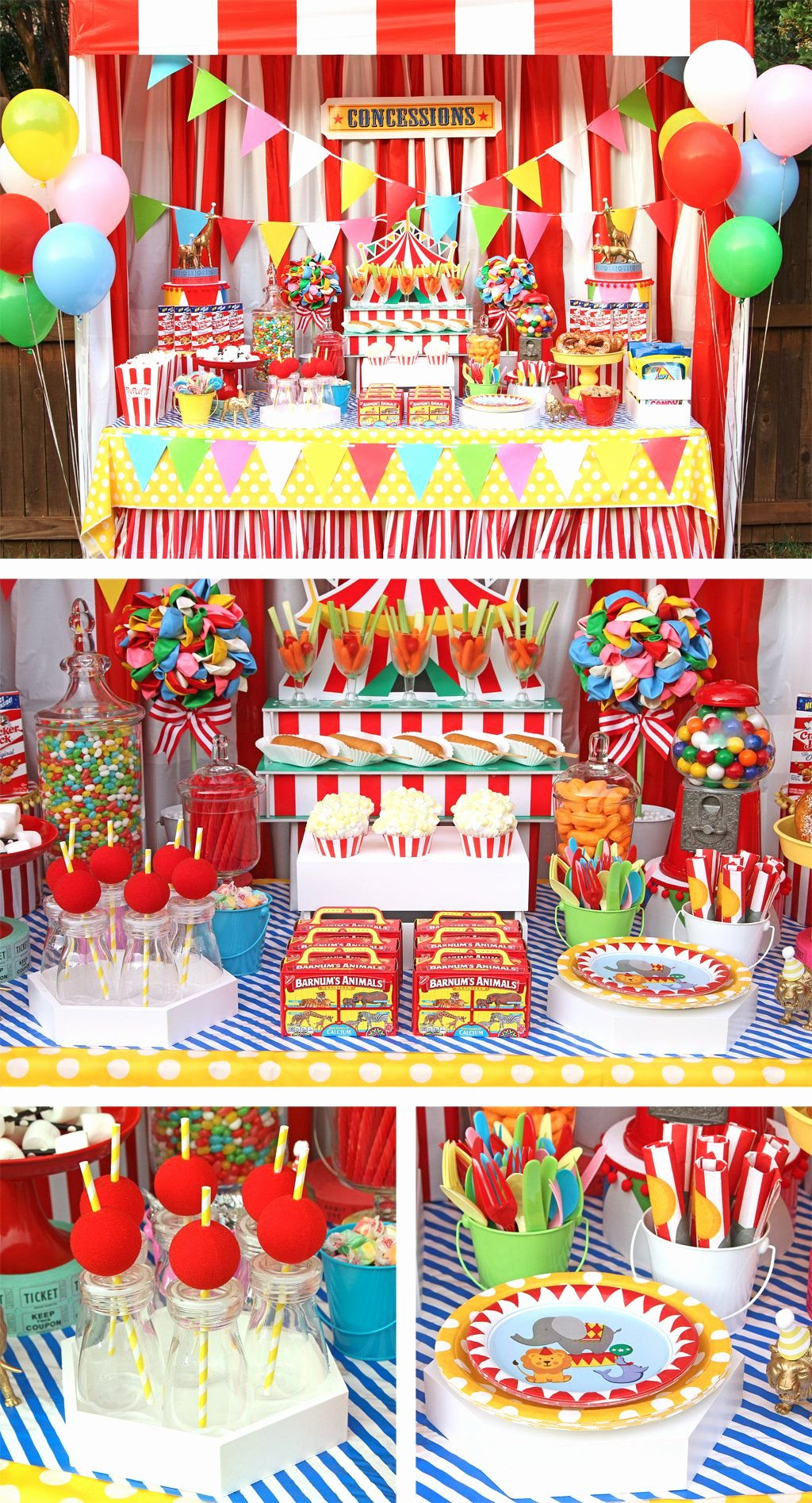 Circus Birthday Decoration Ideas New Circus Party Ideas