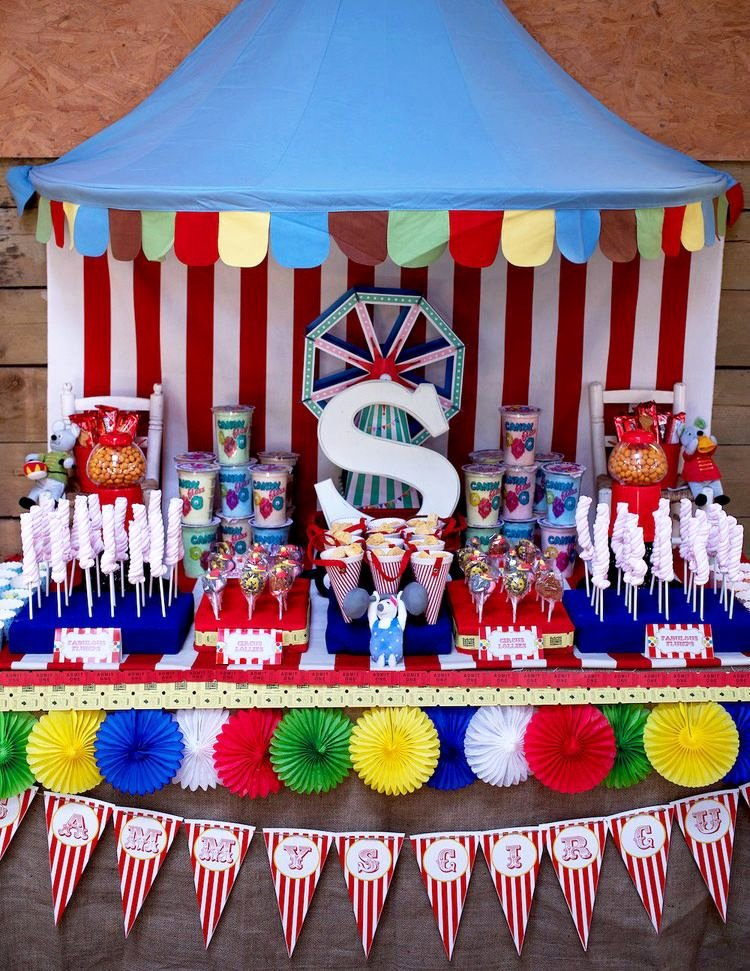 Circus Birthday Decoration Ideas New Colorful Circus
