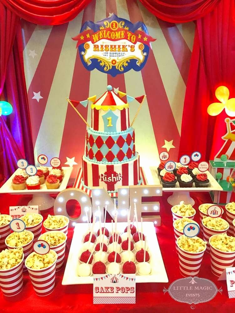 Circus Birthday Decoration Ideas Unique Carnival theme Birthday Party Ideas
