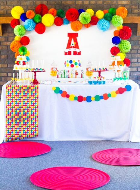 Colorful Birthday Decoration Ideas Best Of Colorful Bouncy Ball Birthday