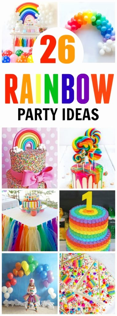 Colorful Birthday Decoration Ideas Fresh 26 Colorful Rainbow Party Ideas Pretty My Party Party Ideas