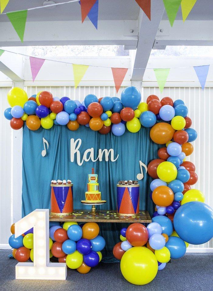 Colorful Birthday Decoration Ideas Lovely Kara S Party Ideas Colorful Music Birthday Party