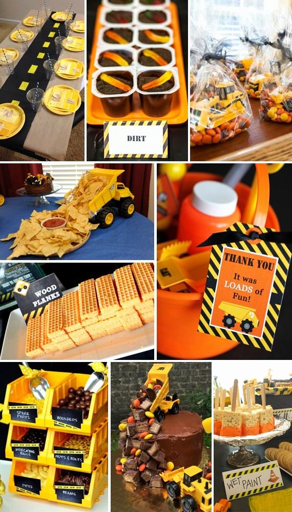 Construction Birthday Decoration Ideas Beautiful Construction Party theme