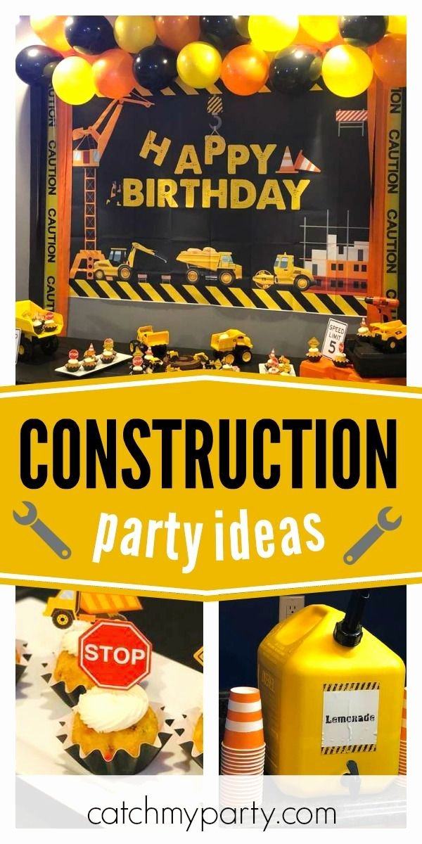 "Construction Birthday Decoration Ideas Best Of Construction Birthday ""caution Joel S 5th Birthday"