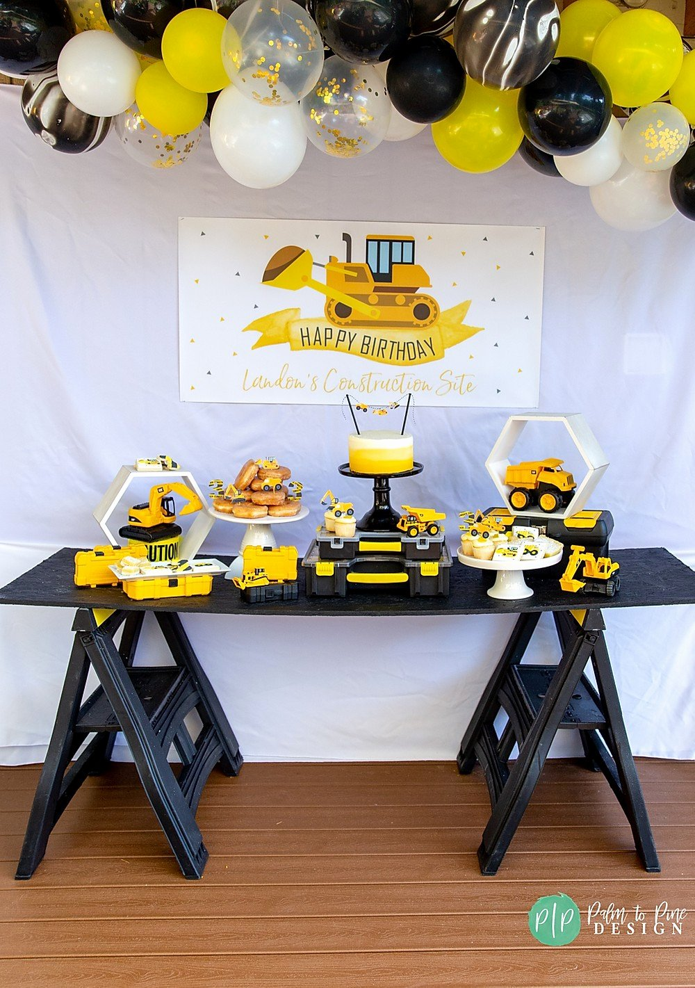 Construction Birthday Decoration Ideas Fresh A Construction theme Boys Birthday Party