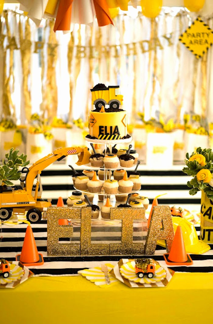 Construction Birthday Decoration Ideas Inspirational Kara S Party Ideas Modern Construction Birthday Party