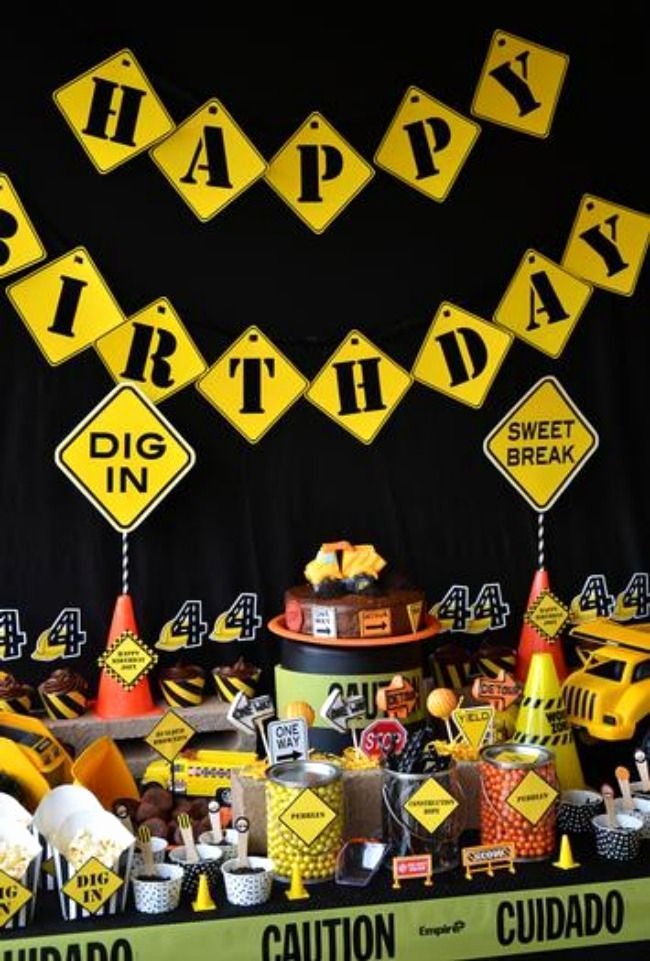 Construction Birthday Decoration Ideas Luxury 45 Construction Birthday Party Ideas