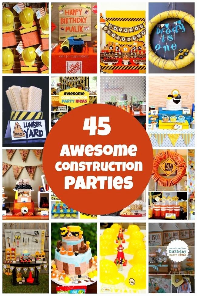 Construction Birthday Decoration Ideas New 45 Construction Birthday Party Ideas Spaceships and Laser