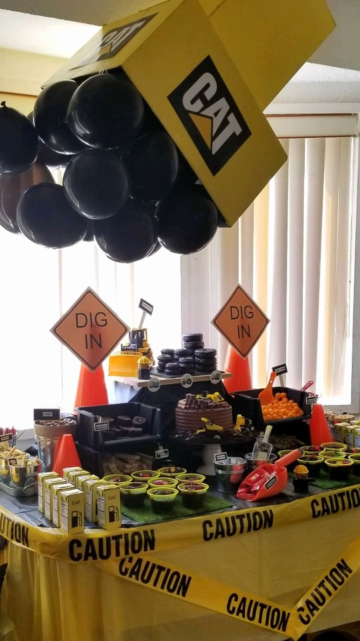 Construction Birthday Decoration Ideas Unique Construction theme Boys Birthday Party