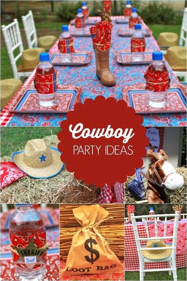 Cowboy Birthday Decoration Ideas Awesome Giddy Up It S A Boy S Western themed Cowboy Birthday Party