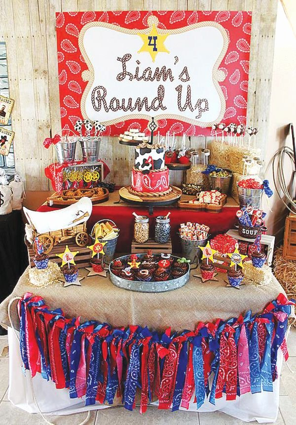 Cowboy Birthday Decoration Ideas Beautiful Rootin tootin Round Up Cowboy Birthday Party Hostess