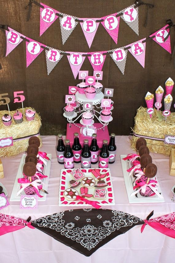 Cowgirl Birthday Decoration Ideas Awesome 30 Girls Birthday Parties