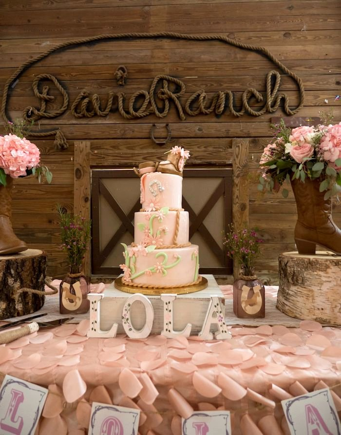 Cowgirl Birthday Decoration Ideas Elegant Horse Ranch Cowgirl Birthday Party