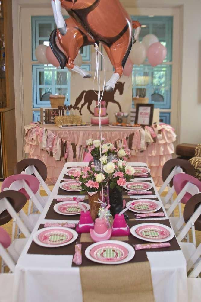 Cowgirl Birthday Decoration Ideas Luxury Cowgirl Birthday Party Ideas 1 Of 21
