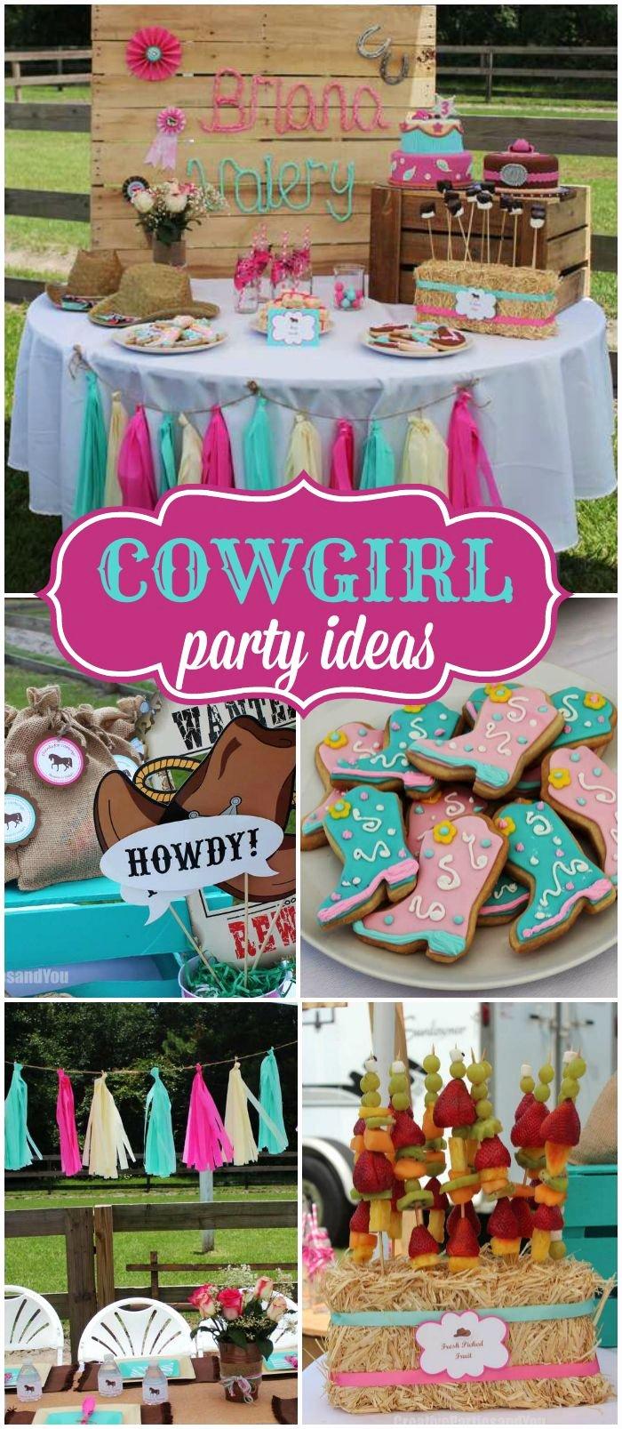 """Cowgirl Birthday Decoration Ideas New Cowgirl Party Birthday """"very Sweet Cowgirl Party"""