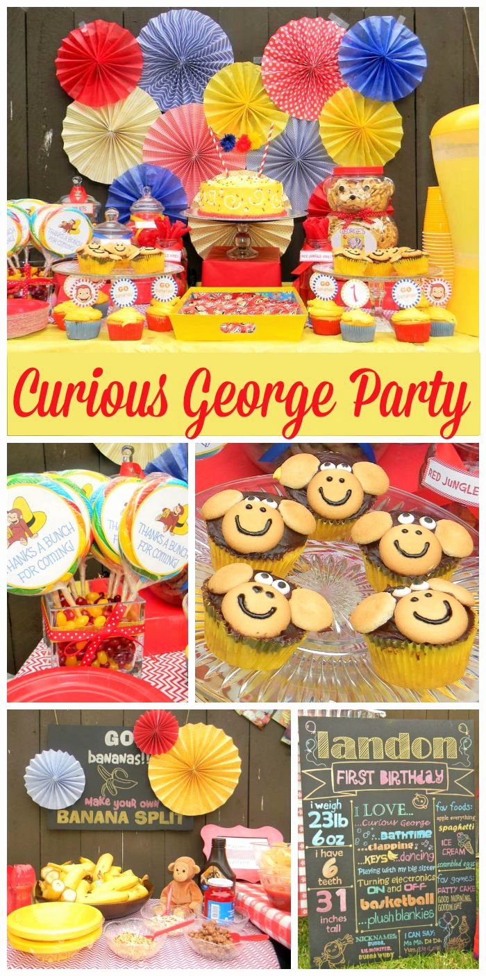 "Curious George Birthday Decoration Ideas Awesome Birthday ""curious George 1st Birthday Party"""