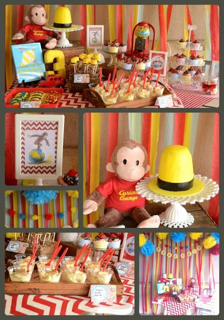 Curious George Birthday Decoration Ideas Awesome Kenne S Curious George Party with Images