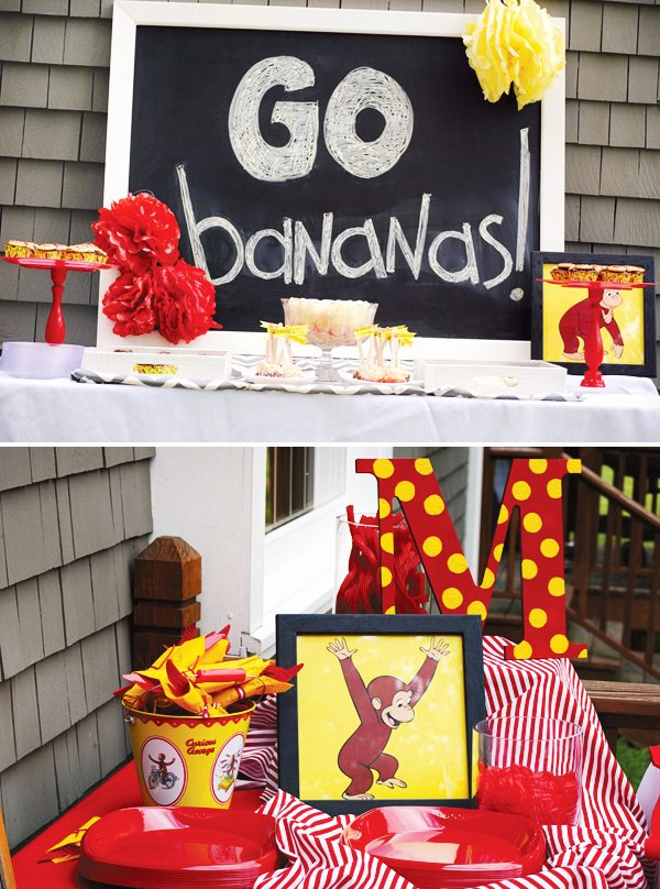 Curious George Birthday Decoration Ideas Inspirational Curious George Birthday Party Hostess with the Mostess