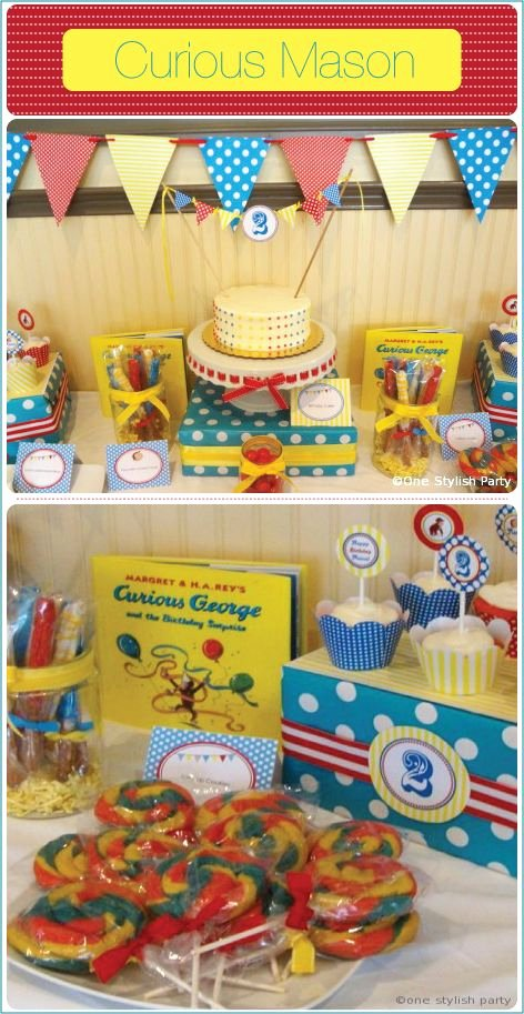 Curious George Birthday Decoration Ideas Inspirational Pin by E Stylish Party On Real Party Curious George