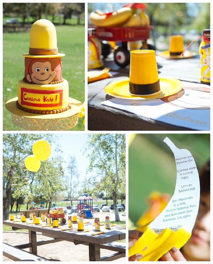 Curious George Birthday Decoration Ideas Lovely Curious George Birthday Party