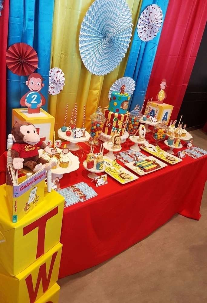 Curious George Birthday Decoration Ideas Luxury Curious George Birthday Party Ideas