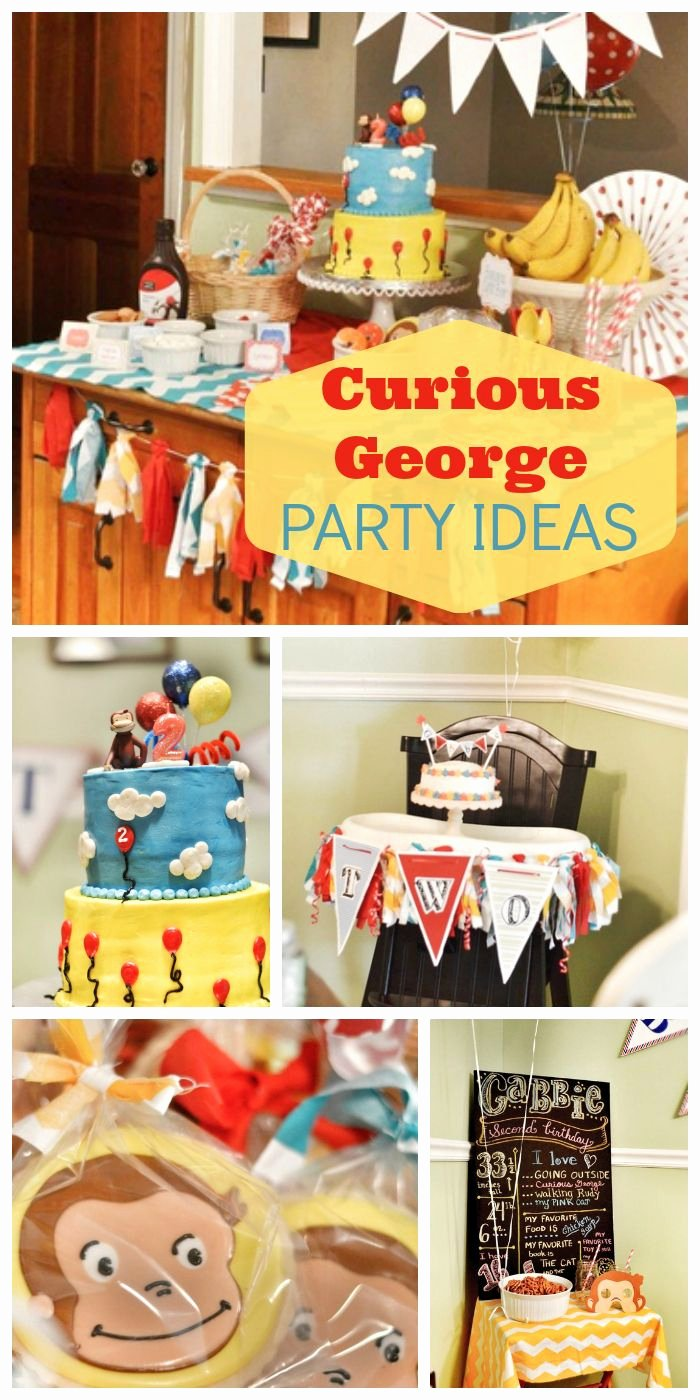 "Curious George Birthday Decoration Ideas Luxury Curious George Birthday ""curious Gabbie S 2nd Birthday"