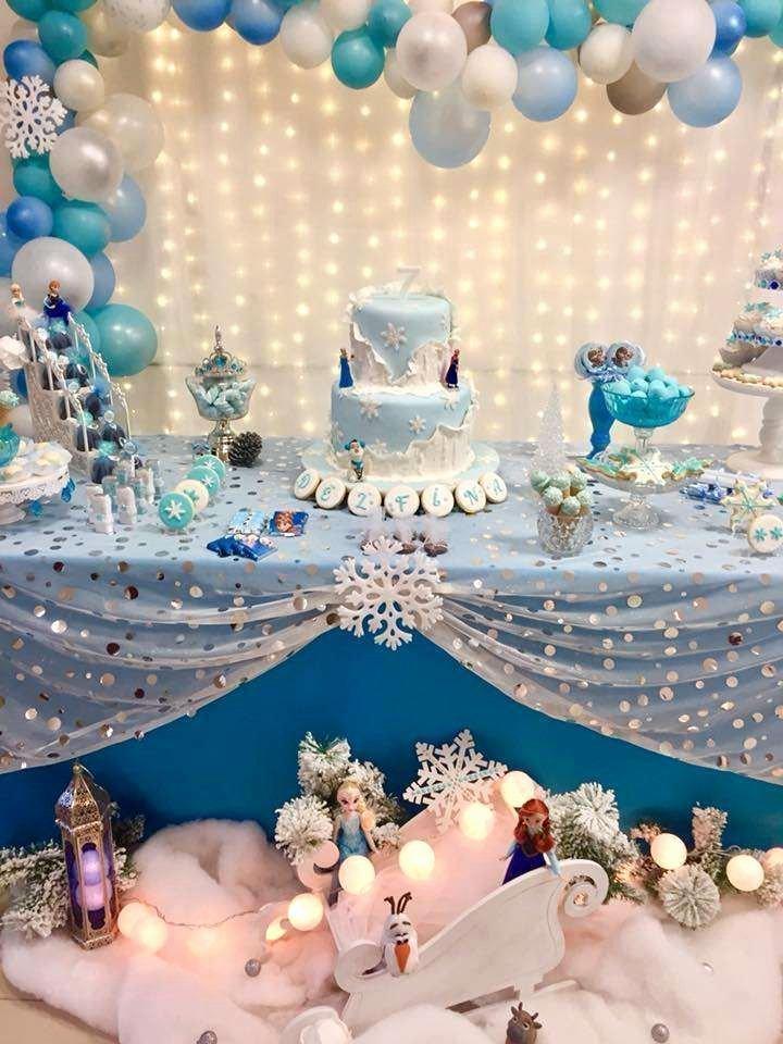Disney Birthday Decoration Ideas Beautiful Frozen Disney Birthday Party Ideas 1 Of 14