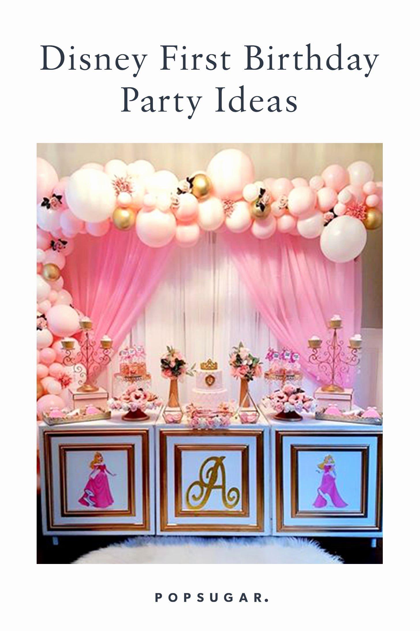 Disney Birthday Decoration Ideas Lovely Disney First Birthday Party Ideas