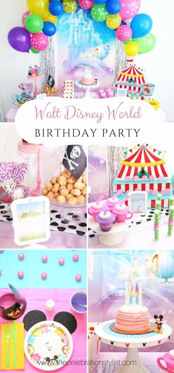 Disney Birthday Decoration Ideas New Walt Disney World Birthday Party