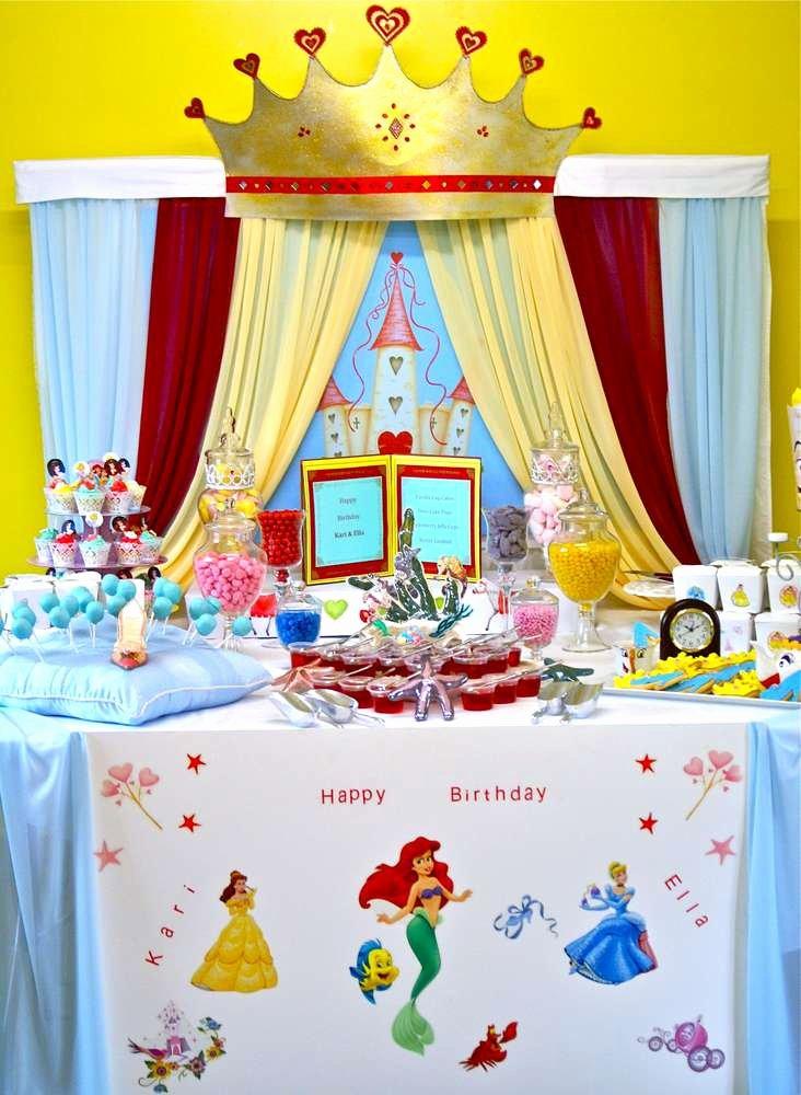 Disney Birthday Decoration Ideas Unique Disney Princess Birthday Party Ideas 8 Of 15