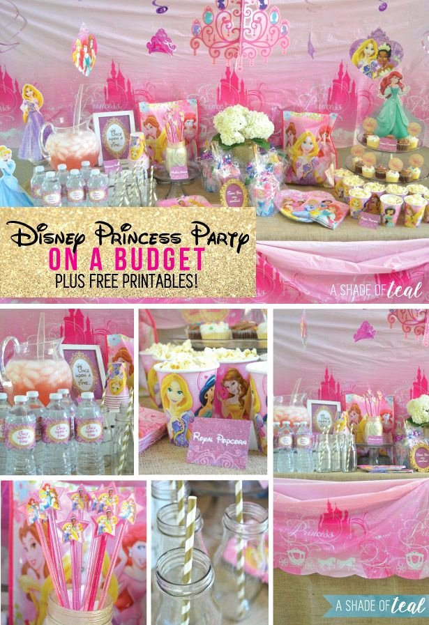 Disney Princess Birthday Decoration Ideas Best Of A Disney Princess Party On A Bud Plus Free Printables