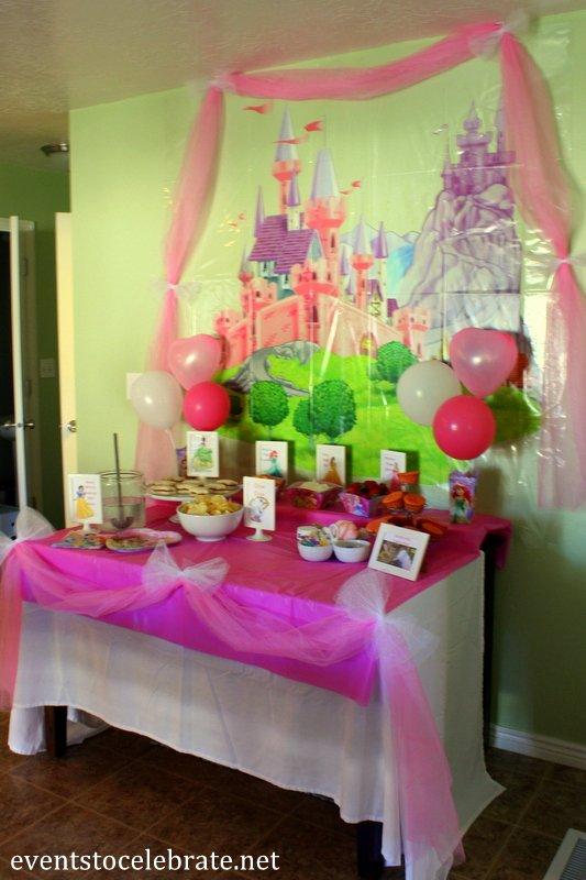 Disney Princess Birthday Decoration Ideas Luxury Disney Princess Birthday Party Ideas Food & Decorations
