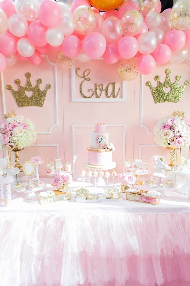 Disney Princess Birthday Decoration Ideas Unique Pink and Gold Princess Birthday Party Pretty My Party
