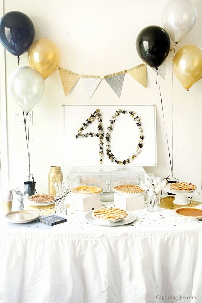 Diy 40th Birthday Decoration Ideas Lovely Diy Crafts Surprise 40th Birthday Party 40th Birthday