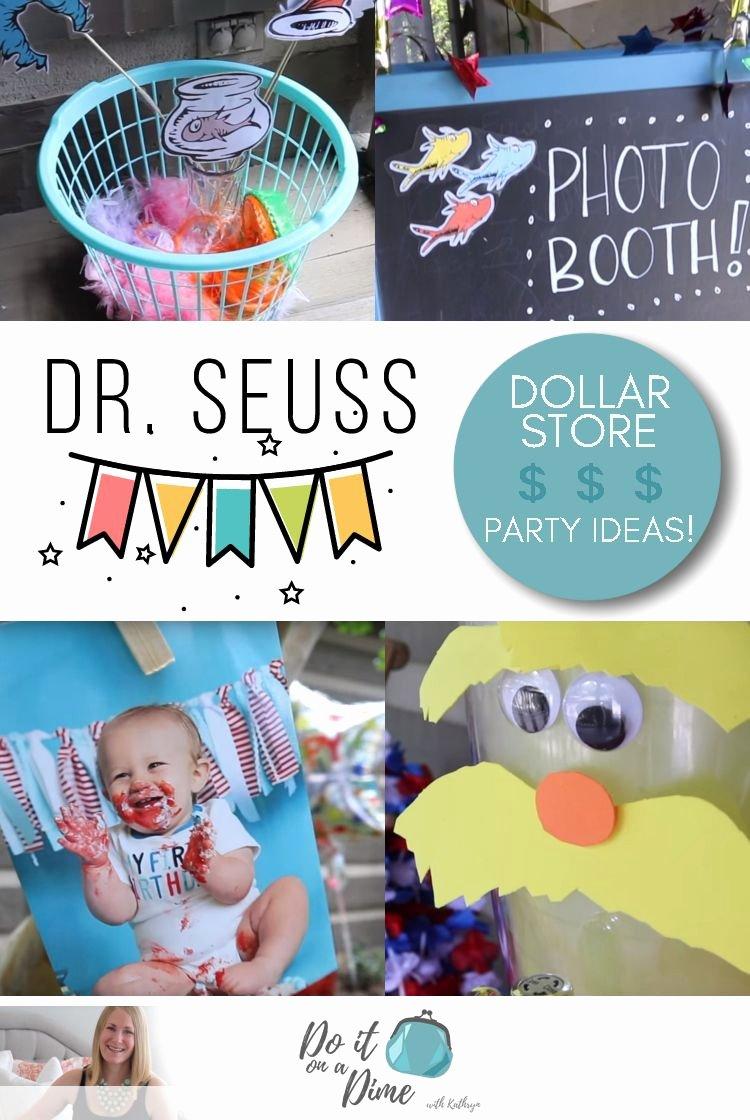 Dollar Store Birthday Decoration Ideas Inspirational Dollar Tree Dr Seuss Birthday Ideas