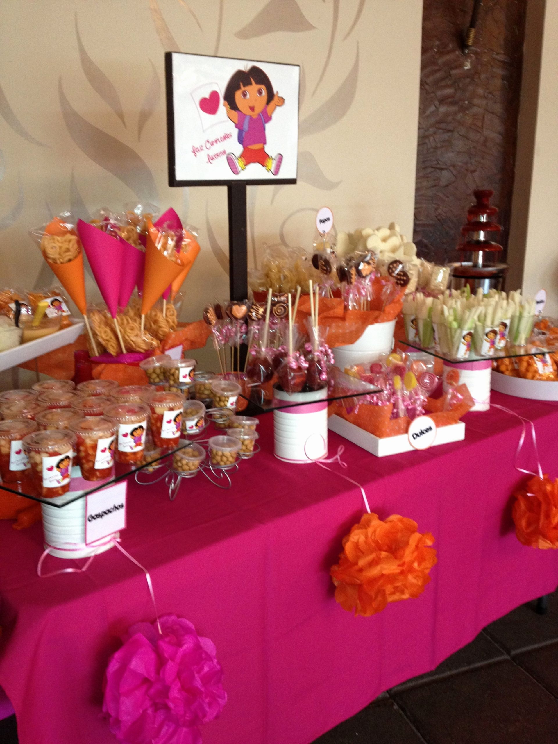 Dora Birthday Decoration Ideas Fresh Dora the Explorer Candy Table