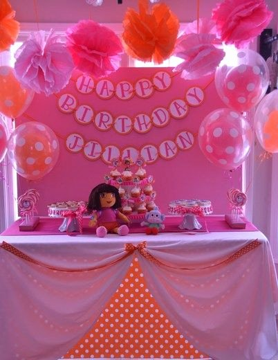 Dora Birthday Decoration Ideas Lovely Dora & Boots Birthday Party Ideas