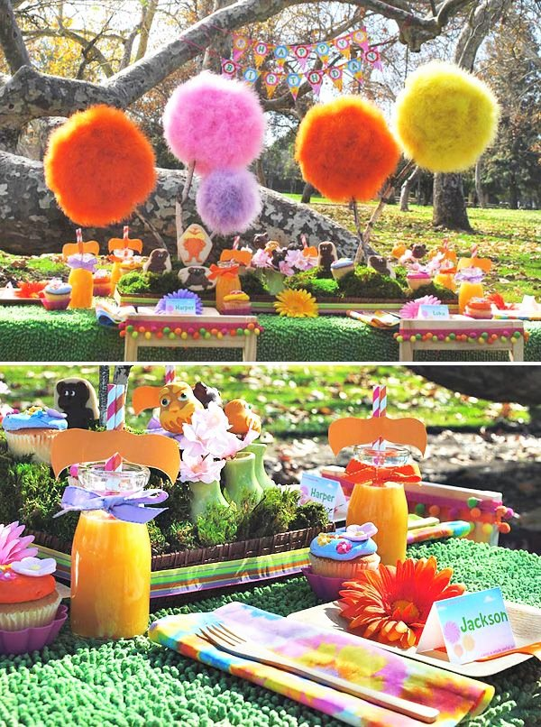 Eco Friendly Birthday Decoration Ideas Lovely Amazing Lorax Party Diy Truffula Trees Hostess with the