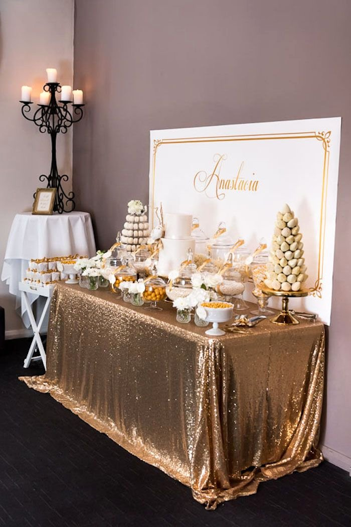 Elegant Birthday Decoration Ideas Best Of Elegant Gold White Baptism Party